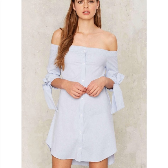 b0651f4c6c4d M-244 Sasha off the shoulder shirt dress